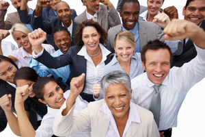 Business people celebrating success 2